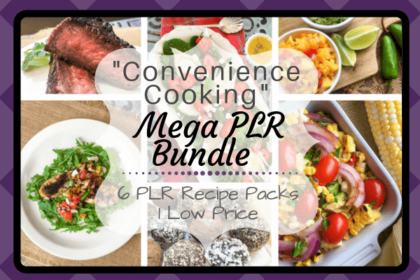 Convenience Cooking Mega PLR Bundle